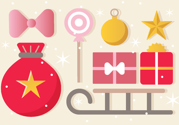 Free Christmas Ornament Vector Greeting Card - vector #409481 gratis