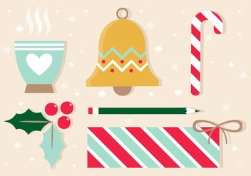 Free Vector Christmas Design Elements - Kostenloses vector #409491