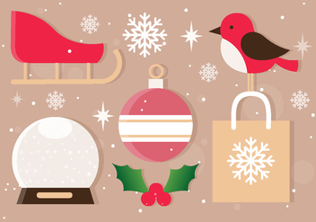 Free Vector Christmas Icons - бесплатный vector #409501