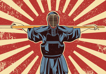 Kendo Sword Martial Arts Fighters - Free vector #409531