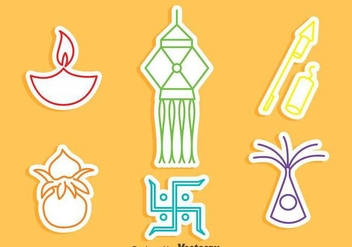 India Festival Element Icons Vector - vector gratuit #409551