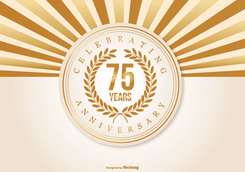 Beautiful 75 Year Anniversary Illustration - Kostenloses vector #409591