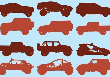 Icon Set Of Off Road Car - Free vector #409631