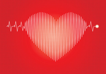 Flatline Heart Beat Illustration - Free vector #409771