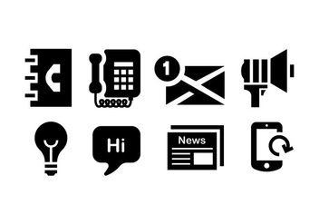 Comunication icon set - vector gratuit #409801
