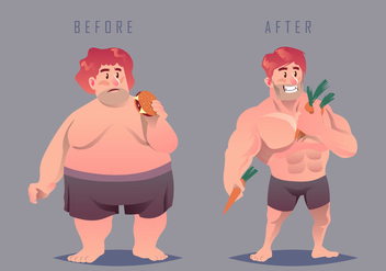 Fat And Slimming Vector - Free vector #409821