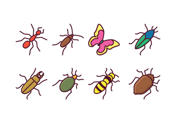 Free Insect Icons - vector gratuit #409841
