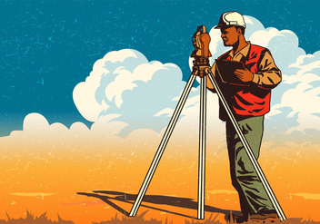 Construction Engineer Surveyor - Free vector #409851