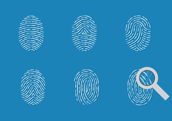 Theft Fingerprint Vector Set - Kostenloses vector #409941