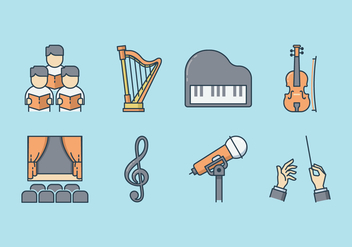 Free Musical Performance Icons - vector gratuit #409961