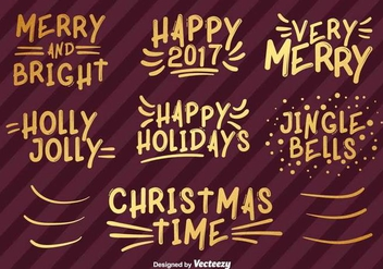 Happy Holidays Han Drawn Vector Lettering - vector #410011 gratis