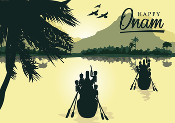 Onam Silhouette Free Vector - Free vector #410111