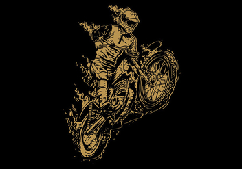 Dirt Bike Vintage Free Vector - бесплатный vector #410121