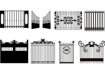 Free Decorative Gate Vector - vector #410131 gratis