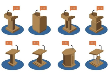 Lectern Icon Set - Free vector #410211