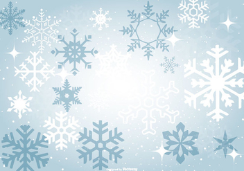 Beautiful Blue Snowflake Background - Free vector #410261