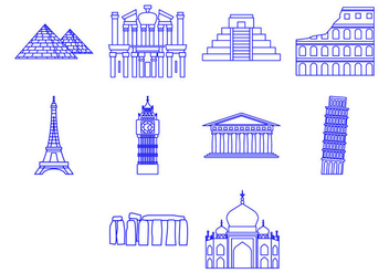 Free World Landmark Icon Vector - vector gratuit #410421