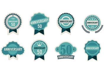 Free Anniversary Badges Vector - бесплатный vector #410431