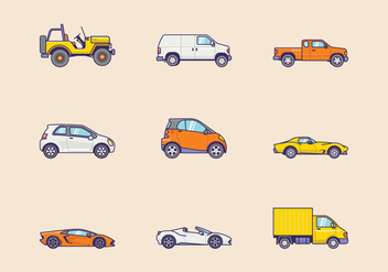 Free Vehicle Icons - бесплатный vector #410441