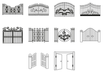 Free Gate Icon Vector - vector gratuit #410541