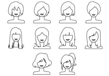 Free Woman Hairstyle Icon Vector - vector #410571 gratis