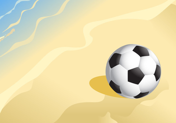 Soccer Ball on a Sandy Beach Vector - Kostenloses vector #410651