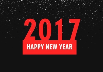 Free Vector New Year 2017 Background - бесплатный vector #410711