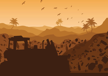 Landfill Silhouette Hot Free Vector - Kostenloses vector #410741