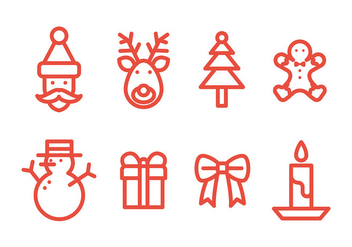 Free Christmas Icons Vector - Kostenloses vector #410771