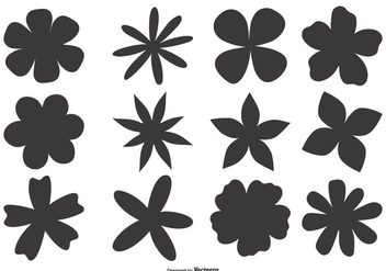 Hand Drawn Flower Shapes - vector gratuit #410801