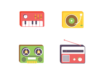 Music Vector Icons - бесплатный vector #410811