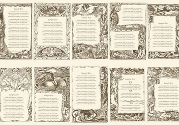 Vintage Poem Text Frames - vector gratuit #410821