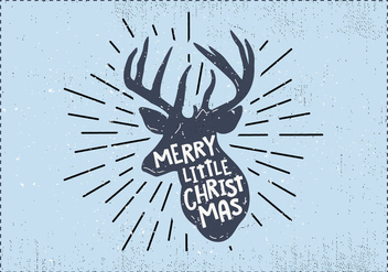 Free Christmas Deer Vector - бесплатный vector #410841