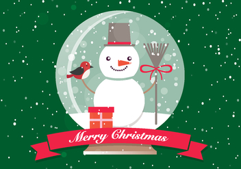 Free Christmas Glass Ball - Free vector #410851