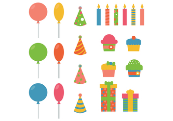 Party Favors Elements - Free vector #410981