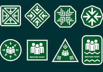Meeting Point Sign System Free Vector - vector gratuit #411001