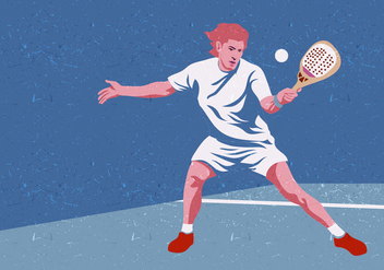 Padel Tennis Player - бесплатный vector #411021