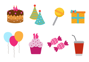 Free Sweet 16 Vector Icon - Free vector #411091