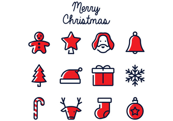 Christmas Linear Icon - Free vector #411101
