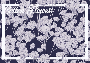 Cotton Flower Seamless Pattern - vector gratuit #411171