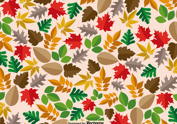 Maple Leaves Seamless Pattern - vector gratuit #411201