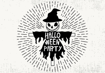 Free Halloween Party Vector Illustration - vector gratuit #411281