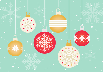 Free Vector Christmas Ornaments - бесплатный vector #411291