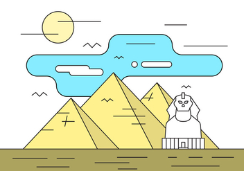 Free Illustration With Pyramids - vector gratuit #411521