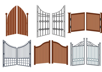 Open Gate Vector - vector #411551 gratis