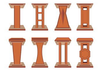 Lectern Vector Icons - Free vector #411581
