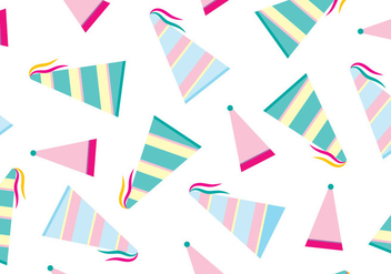 Party Hat Vector Pattern - Free vector #411621
