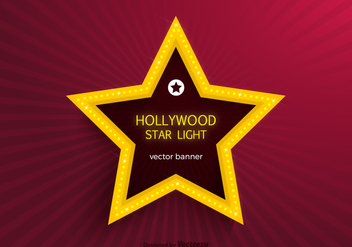 Free Hollywood Star Lights Vector Banner - vector gratuit #411651