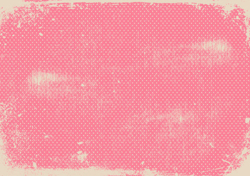 Grunge Pink Polka Dot Background - Kostenloses vector #411661