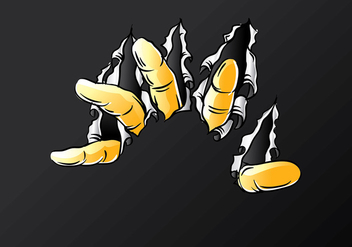 Metal Tear Finger Free Vector - бесплатный vector #411681
